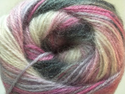 (1) 100 Gramme Angora Active Sweet 'n Sombre - Pink, Lilac, Grey, White Sport Weight Yarn, 546 Yards