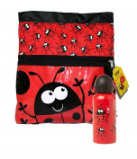 Bugzz Childrens School Sports Gym Swim Beach Travel Sports Bag - Swimming Bag and Water Bottle Set