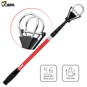 JBM Golf Ball Retriever Device (1.8m Reach, 3m) Automatically Portable Telescopic Golf Ball Pick Up Ball Retriever Scoop Pick Up, 70cm - 200cm Retracted Length, Stainless Steel Shaft