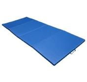 """1.2mx2.4mx2"""" Gymnastics Gym Folding Exercise Aerobics Tumbling yoga play Mat Blue"""