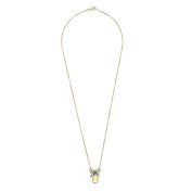 Katerina Psoma Women's Gold Plated 925 Sterling Silver Pineapple Necklace of Length 44.5cm