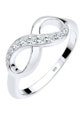 DIAMORE Women Ring Infinity 925 Sterling Silver Diamond White 0.18ct