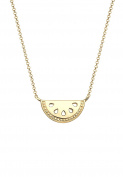 Elli Women Melon Trend Summer 925 Silver Gold Plated Necklace of Length 45cm 0103532917_45