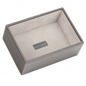 STACKERS Mink Mini Deep section Stacker Jewellery Box Grey Velvet Lining