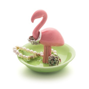 Balvi - Flamingo ring holder in the shape of a flamingo. Small jewellery rack. Made in porcelain.