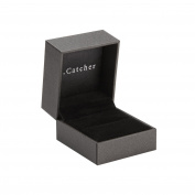B.Catcher Engagement Ring Box Black Jewellery Organiser Velvet Proposal Ring Presentation Box