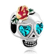Uniqueen Skull Charms Dia De Los Muertos Beads fit European Charm Bracelet