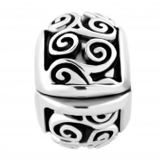Uniqueen Irish Celtic Swirl Flower Clip Lock Stopper Spacers Charms Beads fit Bracelet