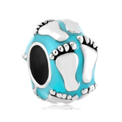 Uniqueen New Baby Footprint Spacer Jewellery Sale Cheap Beads fit Pandora Charm Bracelet