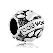 Uniqueen Christmas Gifts Paws Animal Dog Mom Charm New Sale Cheap Beads Fit Pandora Bracelet