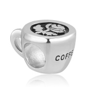 Uniqueen New Coffee Cup Bead Sale For Pandora/Troll/Chamilia Charm Bracelet Gifts