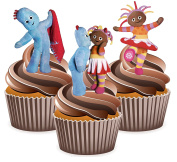 In The Night Garden Cake Decorations - 12 Edible Stand-up Cupcake Toppers