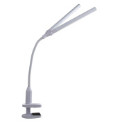 The Daylight Company Duolamp with Clamp, White