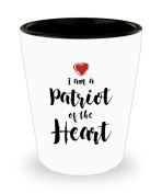 I Am A Patriot Of The Heart Coffee Mug - 45ml Shot Glass - Gift For American Patriot