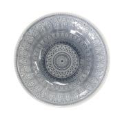 EuroCeramica 86699VBG Fez in Grey Serving Bowl, Multicolor