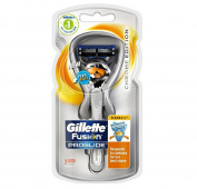 Gillette Fusion Proglide Flexball, Chrome Edition, 1 Razor with 2 Cartridges