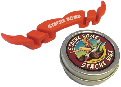 Stache Bomb Moguard Moustache Guard and Stache Bomb Stache Wax Moustache Wax Combo Pack
