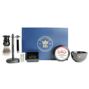 RoyalShave All Black Shaving Set- Essential Wet Shave Kit