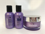 Oligo Blacklight Blue Shampoo, Conditioner & Mask For Blonde Hair - Travel Size Trio
