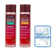 Nunaat BRAZILIAN KERATIN Shampoo Conditioner Set w/ Collagen Mask