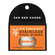 Van Der Hagen Stainless Steel Double Edge Razor Blades 5 Blades + FREE Schick Slim Twin ST for Dry Skin
