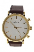 Antoneli Ag6182-03 Gold/brown Leather Strap Watch Watch For Unisex 1 Pc
