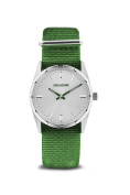 Zadig & Voltaire Zvf212 Fusion - Silver/green Nylon Strap Watch Watch For Unisex 1 Pc