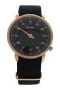 Kulte Kul01 Forever Young - Rose Gold/black Nylon Strap Watch Watch For Unisex 1 Pc