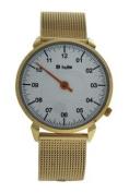 Kulte Ku15-0008 Gold Stainless Steel Mesh Bracelet Watch Watch For Unisex 1 Pc