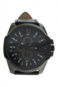 Louis Villiers Lvag8912-8 Black/black Leather Strap Watch Watch For Men 1 Pc