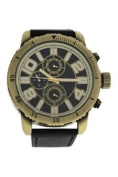 Antoneli Ag1905-02 Gold/black Leather Strap Watch Watch For Men 1 Pc