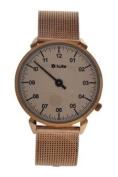 Kulte Ku15-0014 Rose Gold Stainless Steel Mesh Bracelet Watch Watch For Unisex 1 Pc