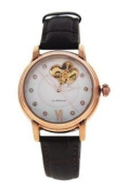 Jean Bellecour Redm1 Rose Gold/brown Leather Strap Watch Watch For Women 1 Pc