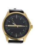 Louis Villiers Ag3804-04 Gold/black Leather Strap Watch Watch For Men 1 Pc