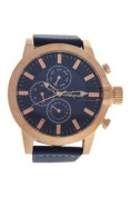 Antoneli Ag1901-04 Rose Gold/blue Leather Strap Watch Watch For Men 1 Pc