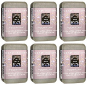 One With Nature Dead Sea Spa Volcanic Mud Mineral Soap 210ml (Pack of 6) With Dead Sea Minerals, Argan Oil and Shea Butter
