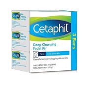 Cetaphil Deep Cleansing Facial Bar for Acne-Prone Skin, 270ml + FREE Schick Slim Twin ST for Dry Skin