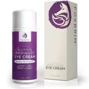 Foxbrim Youthful Radiance Eye Cream - For Dark Circles & Puffiness - Anti-Ageing Eye Cream - Natural & Organic - With Green Tea, Licorice, Vitamin C, Apple,Tamanu Oil, Rosehip Seed Oil - 30ml