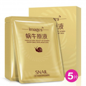 Shouhengda Deep Moisturising Rich Snail Facial Mask 5 sheets