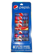 Pepsi Lip Balm Variety Pack! 8 Flavoured Lip Balms Per Pack! Five Different Pepsi Flavours! Perfect For Any Soda Lover!