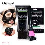 SHILLS Black Mask, Peel Off Mask, Blackhead Remover Mask, Charcoal Mask, Blackhead Peel Off Mask x1, black mask x1 and Brush Kit