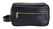 Clava Santa Fe Leather Toiletry Case, Black