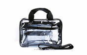 Kemier 3 In 1 Clear Makeup Bags Vinyl Zippered PVC Cosmetic/ Toiletry/ Storage Travel Bags|/Train Case With Detachable Strap