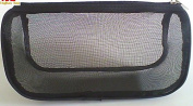 Toiletry Bag-Explore Lifez Black Breathable Mesh Portable Travel Makeup Bag Organiser Multiple Function Cosmetic Brushes Case for Travel