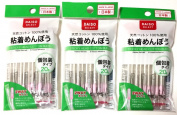 3 X Daiso Japan Sticky Head Cotton Buds 20 Pieces Swab