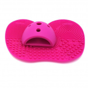Makeup Brush Cleaning Mat, Makeup Brush Cleaner Pad Cosmetic Brush Cleaning Mat With Makeup Cleaner Egg