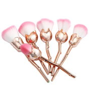 Start 6PC/Set Gold Flower Powder Foundation Makeup Cosmetic All Shapes Brush