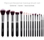 Makeup Brushes Set 15PCS Professional Cosmetic Brushes Soft Synthetic Hair Powder Brushes Kabuki Brush Best For You
