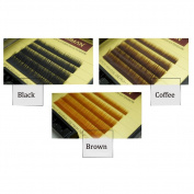 5rows/case,5-9mm mixed in a box,Thickness 0.1 J Curl Individual Eye Lashes Extension Black Brown Natural Soft Individual Mink False Eyelashes