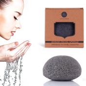 Konjac Sponge Bamboo Charcoal Facial Cleansing Sponge